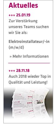 Stellenausschreibung Elektroinstallateur bei Maier + Egeler Elektrotechnik
